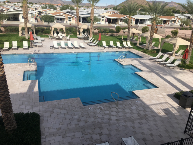 One of the 3 pool areas on site